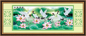 Diy diamond painting with Cranes design for art collection