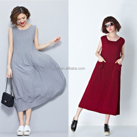 New product distributor wanted knit dress design for fat ladies elastic fabric western dress with pockets front