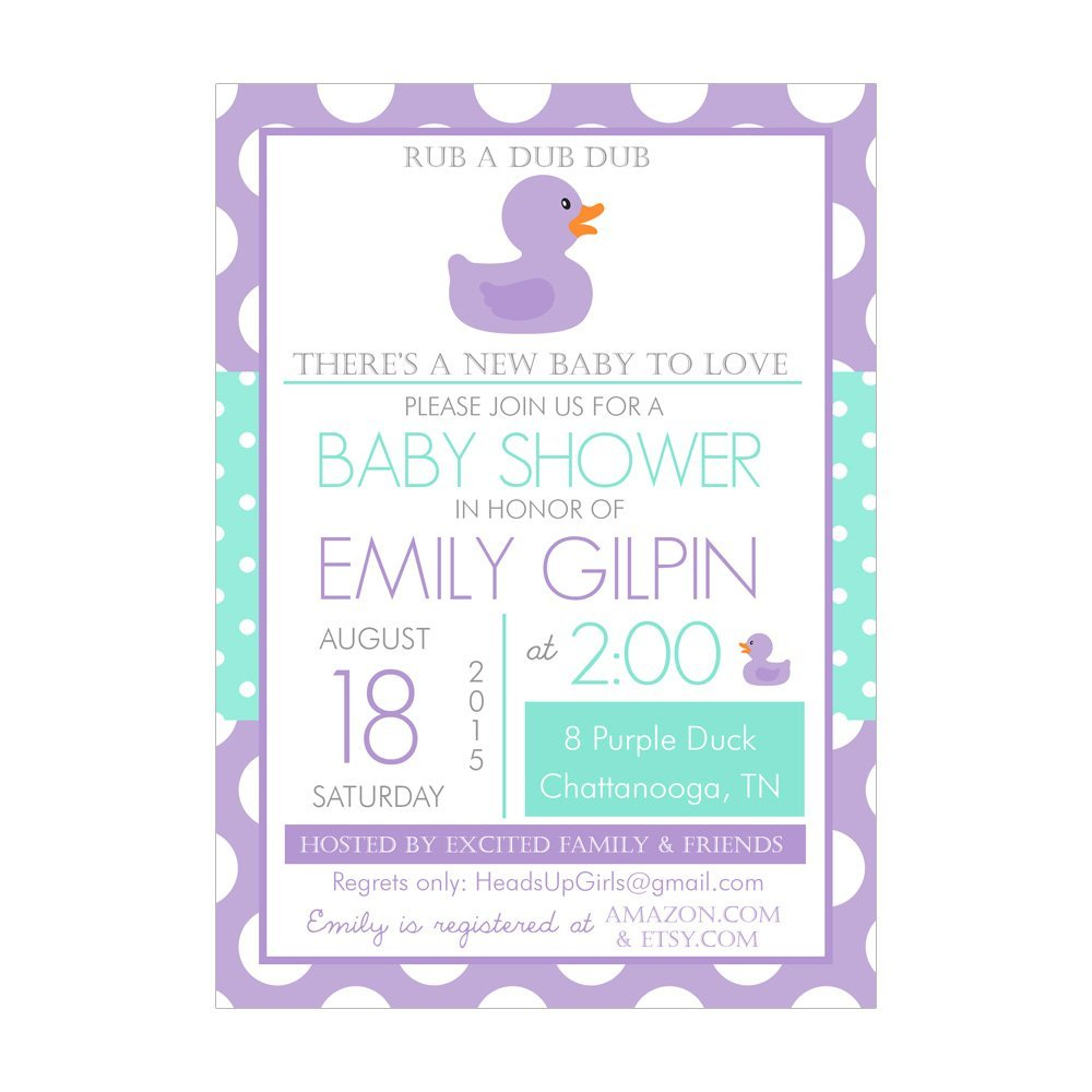 Cheap Rubber Duck Baby Shower Invitations, find Rubber Duck Baby ...
