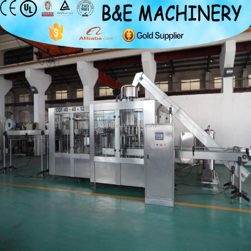 2017 newest B&E Automatic 3 in 1 washing filling capping machine/mineral water bottling filling line