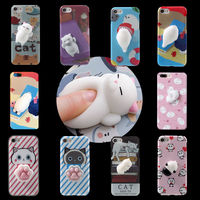 2017 hot newest Squishy Squizee Animal Toys Custom 3D Silicone Nail Finger Pinch Phone Case for iPhone 7 Plus