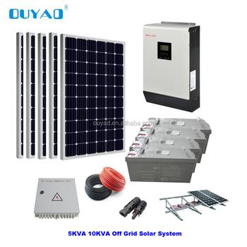 5kw Off-grid Solar Power System/home Solar Panel Kit - Buy Home Solar Power  System,Solar Module System Solar Panel System Home 5kw Whole House Solar