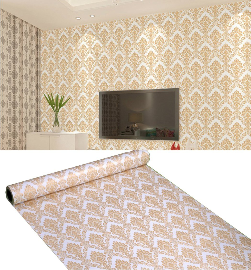 Removable L And Stick Victorian Wallpaper Mural Roll Self Adhesive Vinyl Damask Contact Paper For Walls Kitchen Backsplash Bathroom 24 X 197