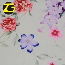 Christmas market stretch polyester silk satin flower design digital printed fabric for clothes