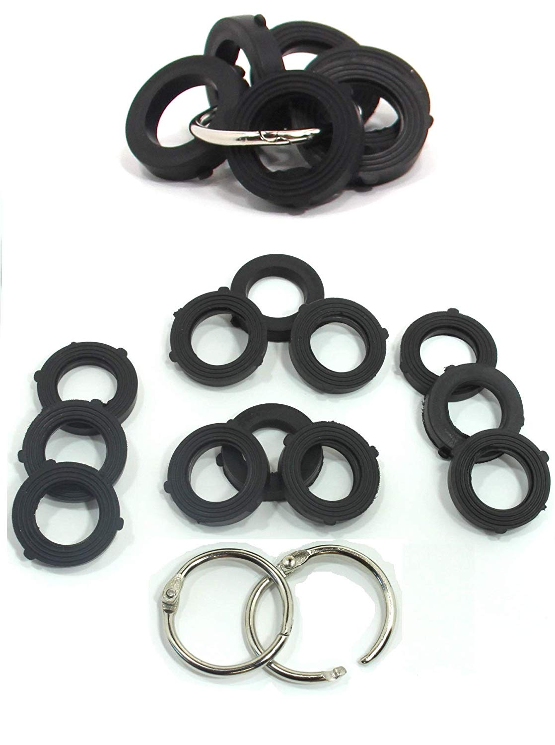 Get Quotations Rubber Garden Hose Washer Standard Size Gasket With Retention Tabs Includes 3 Convenient Metal