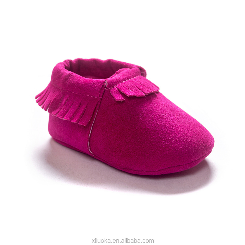 Hot soft sole genuine leather baby moccasins tassel new born baby shoe