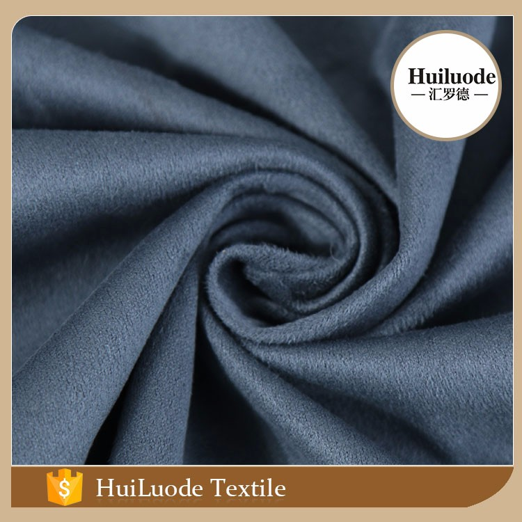 Heavy weight <strong>polyester</strong> and spandex suede fabric for clothing and shoes
