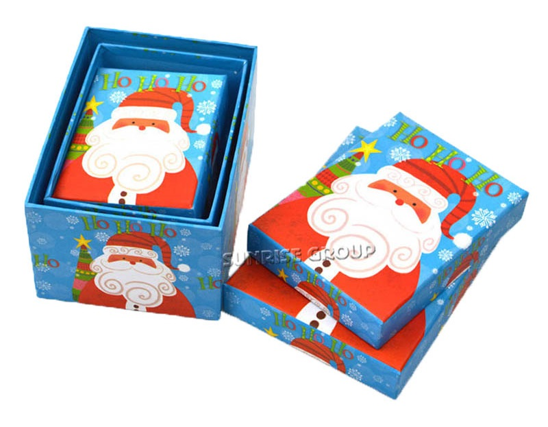 Retail Christmas Boxes Set Custom Sizes Decoration Gift Box