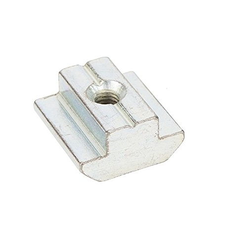 Boeray 50pcs M4 Slide in T Nut Drop in Nut for Aluminum Extrusion with Profile 2020 Sereis Slot 6mm
