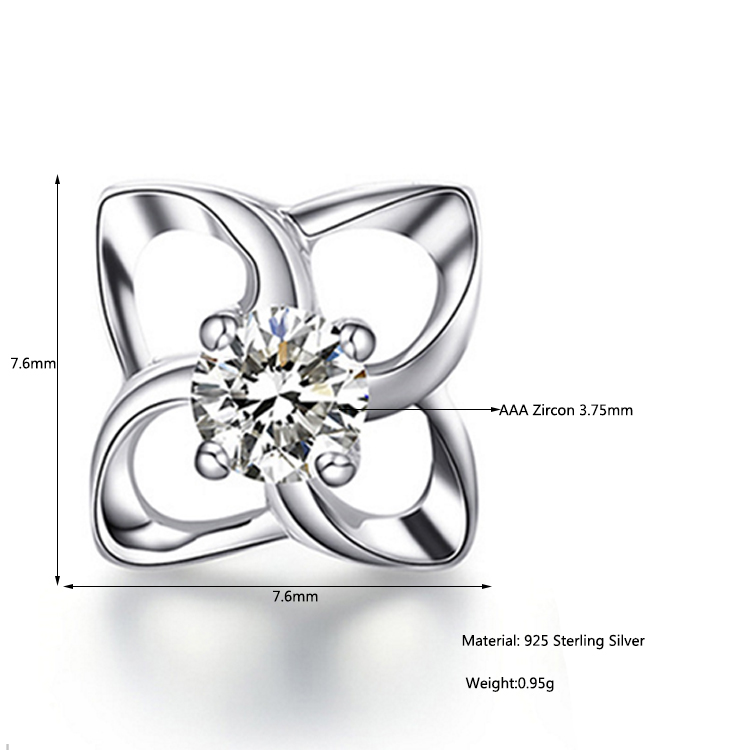 Genuine 925 Sterling Silver original jewelry beautiful fashion zircon accessories For Women Good Gift