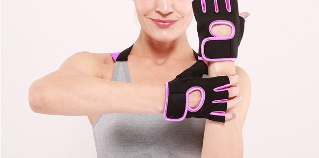 Anti-slip cycling lifting gloves half finger gym gloves with factory price