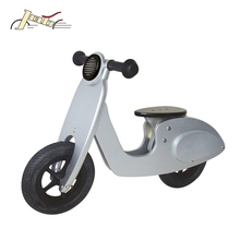 "10"" Scooter Solar Enegie Silver Wooden Running Bike for Kids Training Balance bicycle"