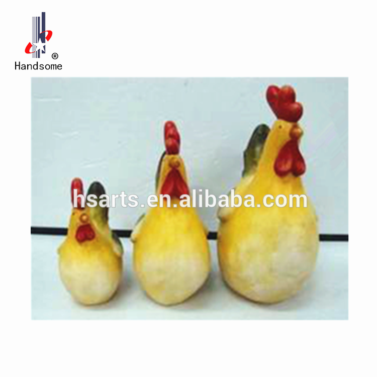 Small Table Top Decoration Antique Ceramic Rooster Figurines
