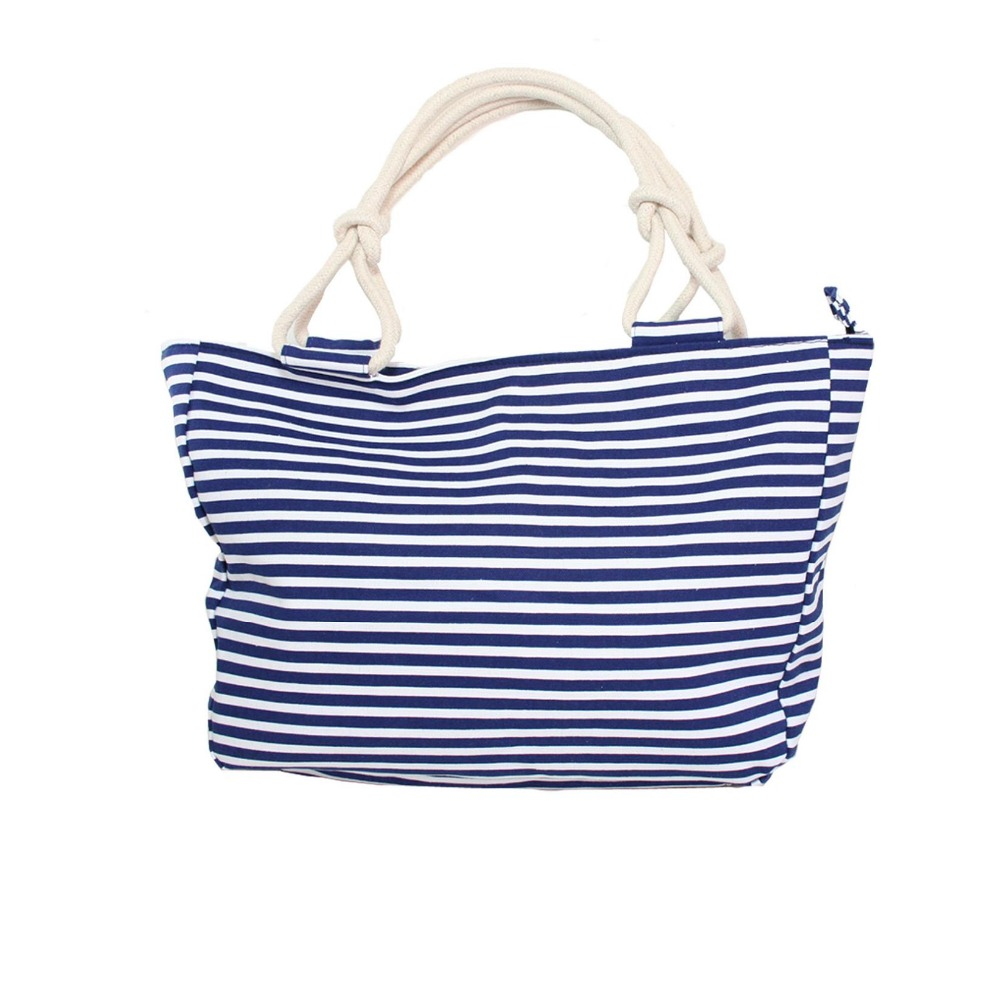 Wholesale 100 cotton canvas Beach tote bags for travel