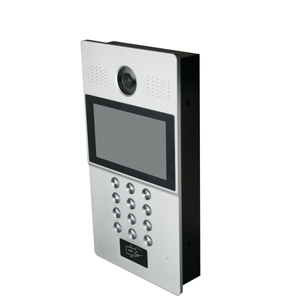 "7"" LCD hand free multi apartments RJ45 Connection ip door video interphone with camera"
