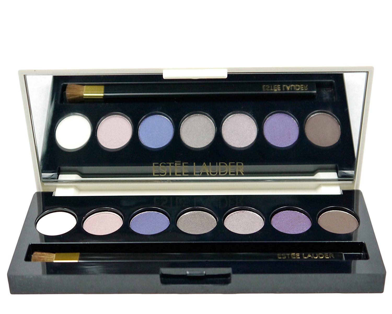 Estée Lauder Pure Color Eyeshadow 7 Color Palette (30-Sugar Cube (Satin), 13-Tranquil Moon (Satin), 68-Nocturnal Blue (Satin), 72-Amazing Grey (Shimmer), 26-Iridescent Violet (Satin), 09-Amethyst Spark (Shimmer), 45-Lavish Mink (Matte)).