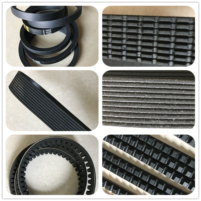 Wrapped Rubber V belt PK Belt Cogged Belt With Cheap Price