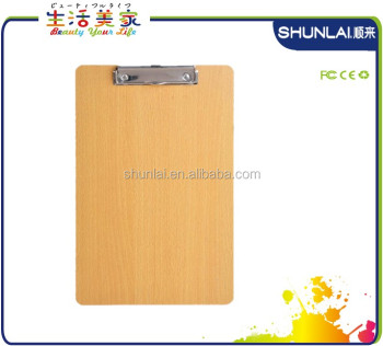 High Quality Office A4 Clip Board,,Wood Clipboard Sl-mb-12k