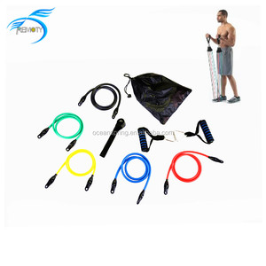 Eco-Friendly Latex Exercise 11PCS Resistance Bands