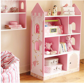 Fairy Wooden Children Dollhouse Bookshelf Kids Furniture