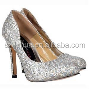 high quality silver glitter for shoes
