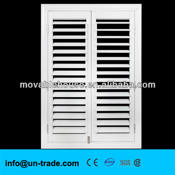 PVC window with built-in shutters