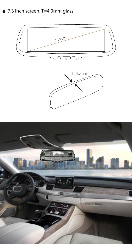 "Germid 7.3"" Full Screen Hd Monitor Car Reverse Rear View Mirror+ ..."