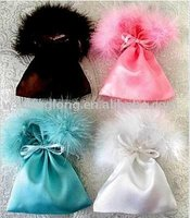 satin pouches with drawstring