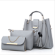 China Manufacture Costom 3in1 pu leather fashion lady designer women bags