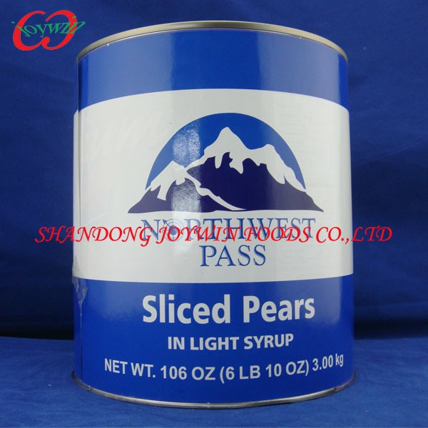 Canned sliced pear in light syrup, health canned food supplier