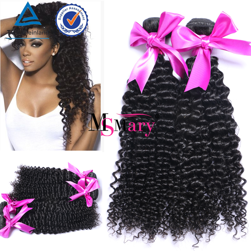 Thick Ends unprocessed virgin brazilian curly salt and pepper human hair extensions