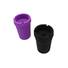High quality cute silicone ashtray art black bucket cup biodegradable silicone custom shape made ashtray