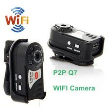 480P 5 LED Motion Detection Q7 P2P WiFi Mini camera camcorders DVR Night Vision Sport DV Wireless wifi IP Web Camera camcorder