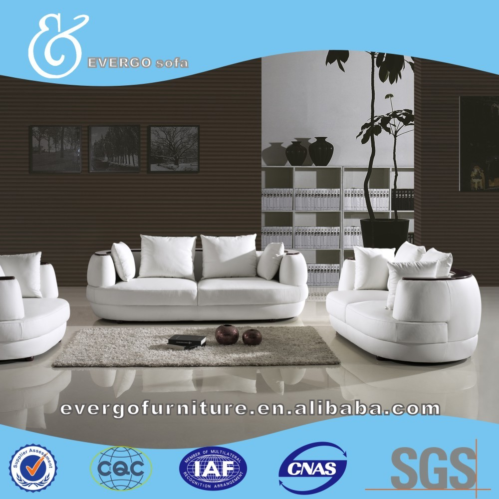 Original Design Amerika Stil Echtes Leder Sofa Wohnzimmer Möbel 1 + 2 + 3  Seter Sofa