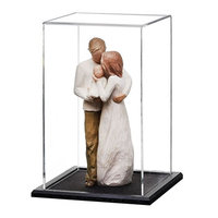 Lucite Acrylic Toys Collectibles Display Stand Box Mini Figure Clear Plastic Display Case