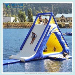 Heavy duty inflatable water slides inflatable lake island water slide