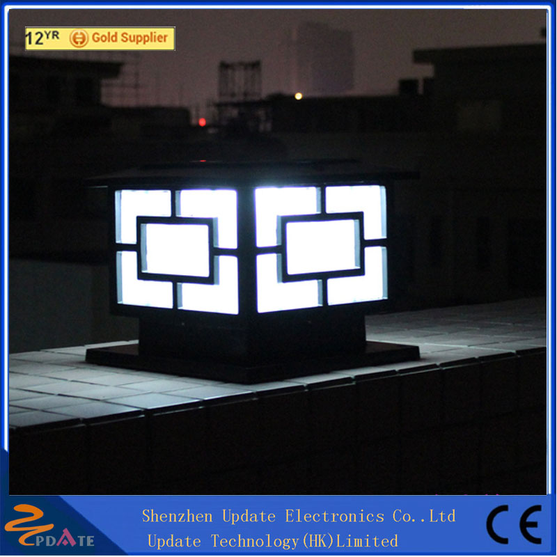 European Type 250mm Square Fence Led Post Lights Outdoor