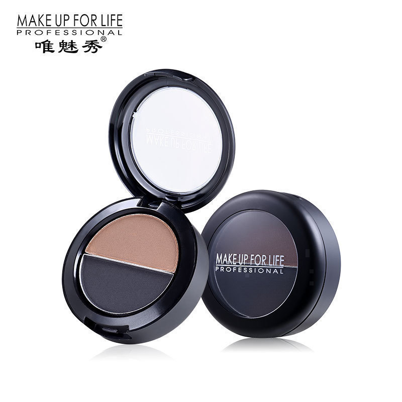 private label 2 colour eye brow powder pressed waterproof long lasting eyebrow powder stamps