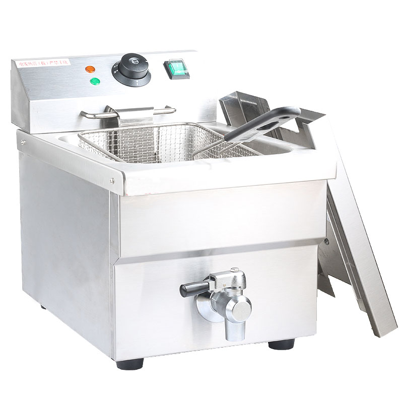 XSL-8LEF Stainless steel electric <strong>deep</strong> <strong>fryer</strong> with oil valve