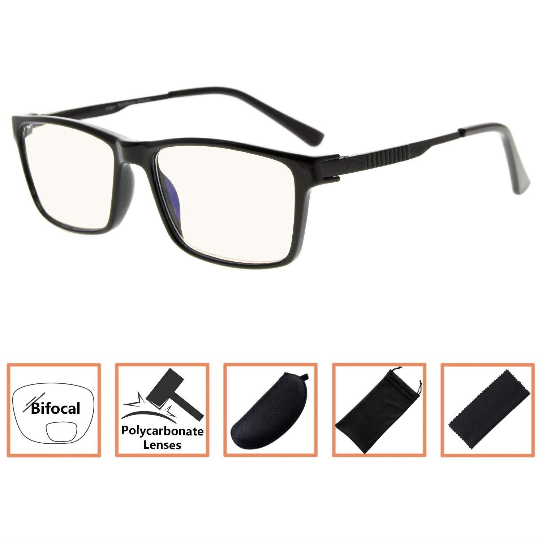 be11259ba077 Get Quotations · Noline Bifocal Progressive Multifocus Glasses 3 Levels  Vision Reading Glasses Amber Tinted Blue Light Blocking (