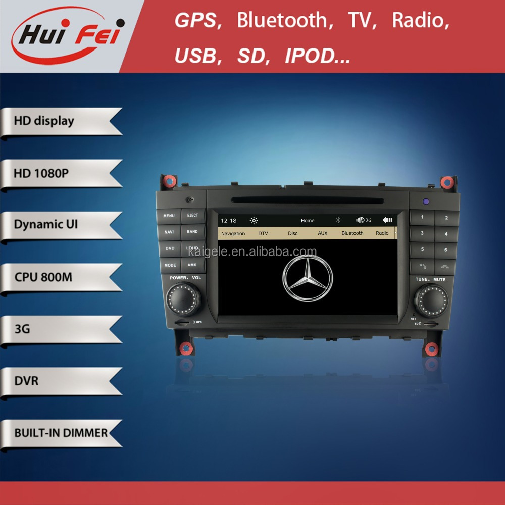 100% In Stock Factory Car Radio For Benz C-Class W203 Car DVD With 3G Bluetooth GPS DVR
