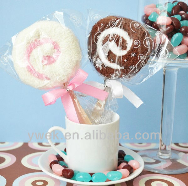 Lovely Lollipop Towel Favor Towel Cakes of wedding favors for wedding gift