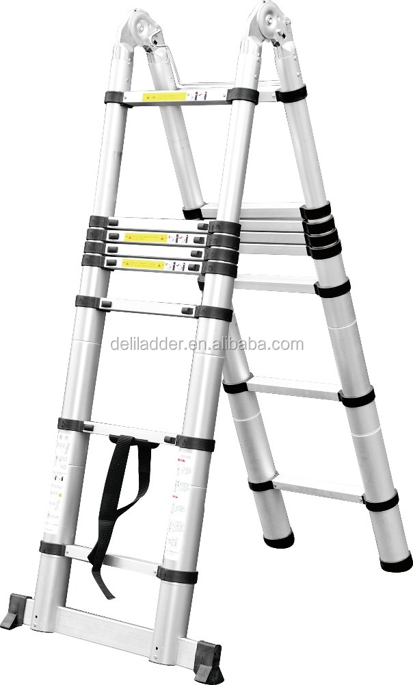 New Multi Purpose Auminium Folding Telescopic A Frame Shape Extendable Ladder