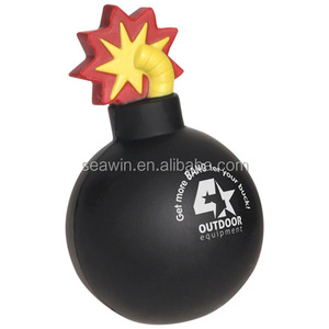 PU foam bomb with fuse stress reliever toy ball