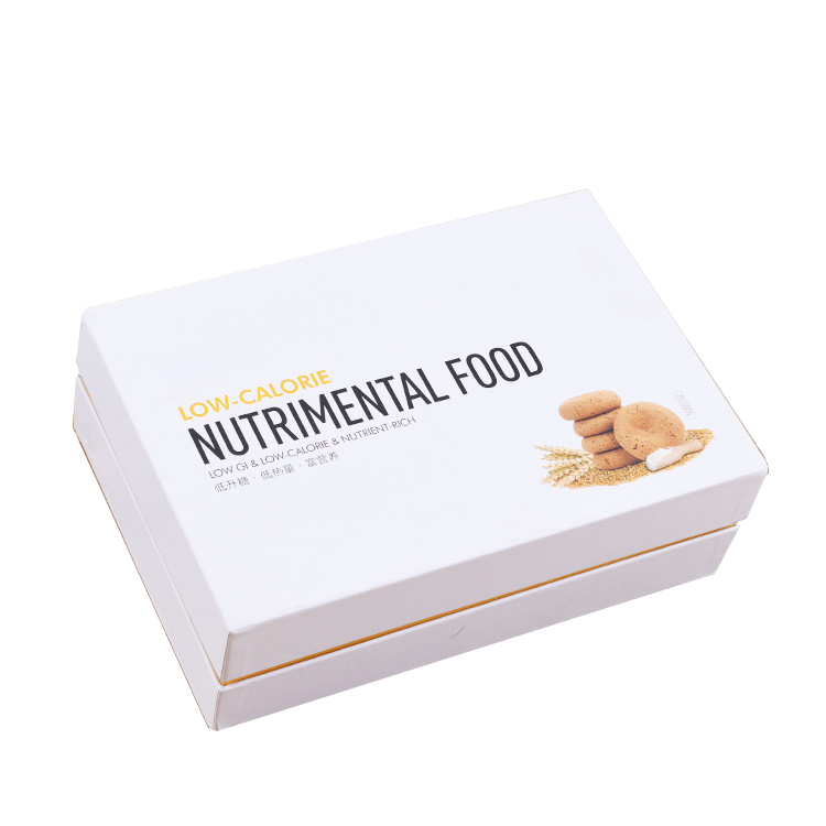 Nutrimental Food Lid and Base Paper Box 2017 High Quality Custom Logo Fancy Snacks Packing Paper Cardboard Gift Cookies Box