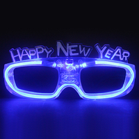 2019 Happy New Year Designed Music Sound Activated Led Glasses For Party