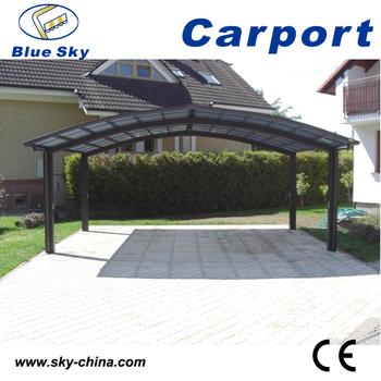 2 Auto Metall Carport Aus Aluminium Carport Gekrümmten Carport - Buy ...