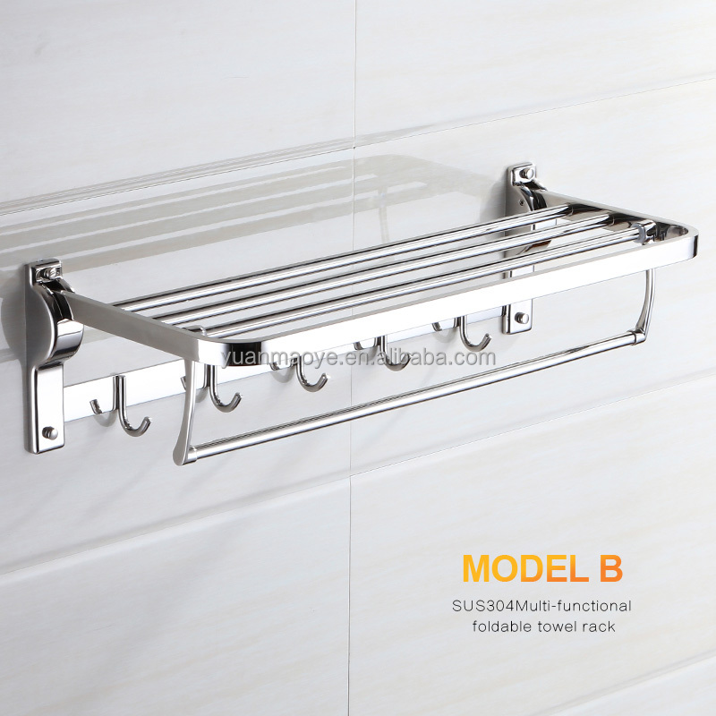 two bars suction cup double bars bathroom stainless steel towel rack for kitchen rags