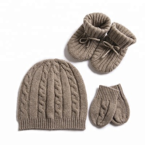 IMF Cashmere Baby Gloves Newborn Hat Glove Booties Sets