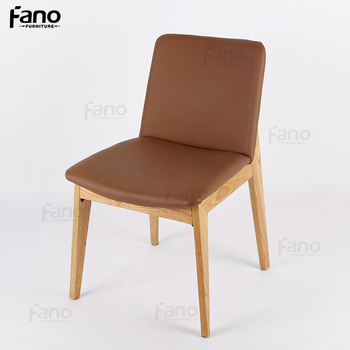 Modern Wooden Chair With Leather Seat Most Comfortable Dining